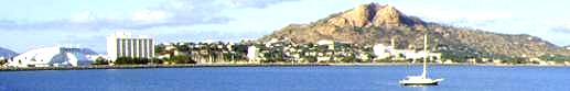 Townsville and Castle Hill from Cleveland Bay.