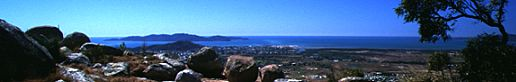 Castle Hill and Magnetic Island from the top of Mt. Stuart