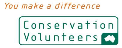 Conservation Volunteers home page