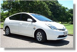 Council's petrol-electic hybrid car,  The Toyota Prius